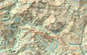 Mapa del Parque Nacional de Ordesa y Monte Perdido